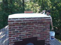 Chimney Crown Cement Redone in Chicago