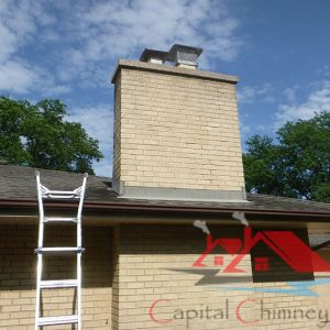A Chimney Inspection being performed in Chicago, Il