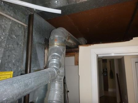 New liner installed for furnace duct work