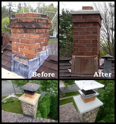 Before and After Chimney Cap