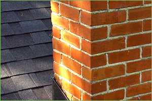 Tuckpointed chimney in Chicago