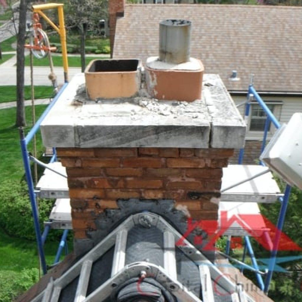 Leaky Chimney Repair Before